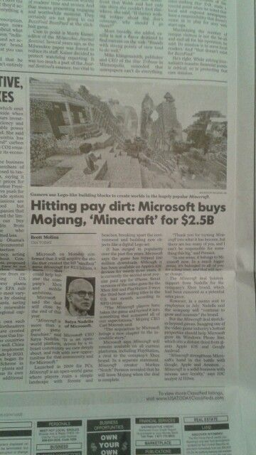 article microsoft s minecraft usa today sept 16 2014