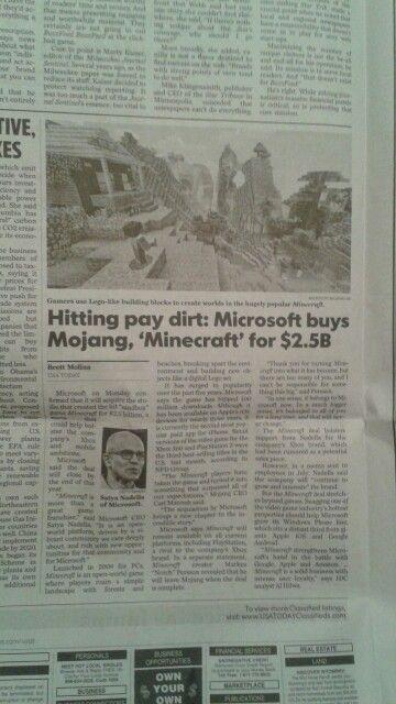 article microsoft s minecraft