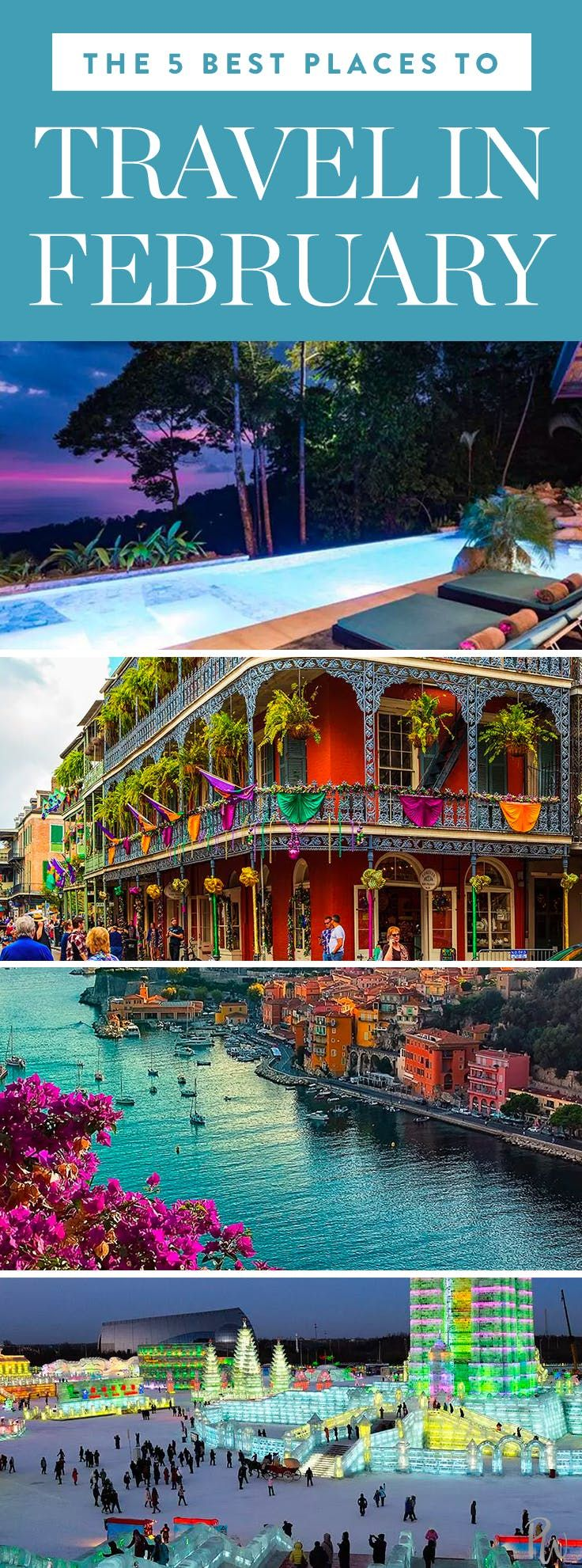 The 5 Best Places to Travel in February  Best places to travel, Best places to vacation, Usa