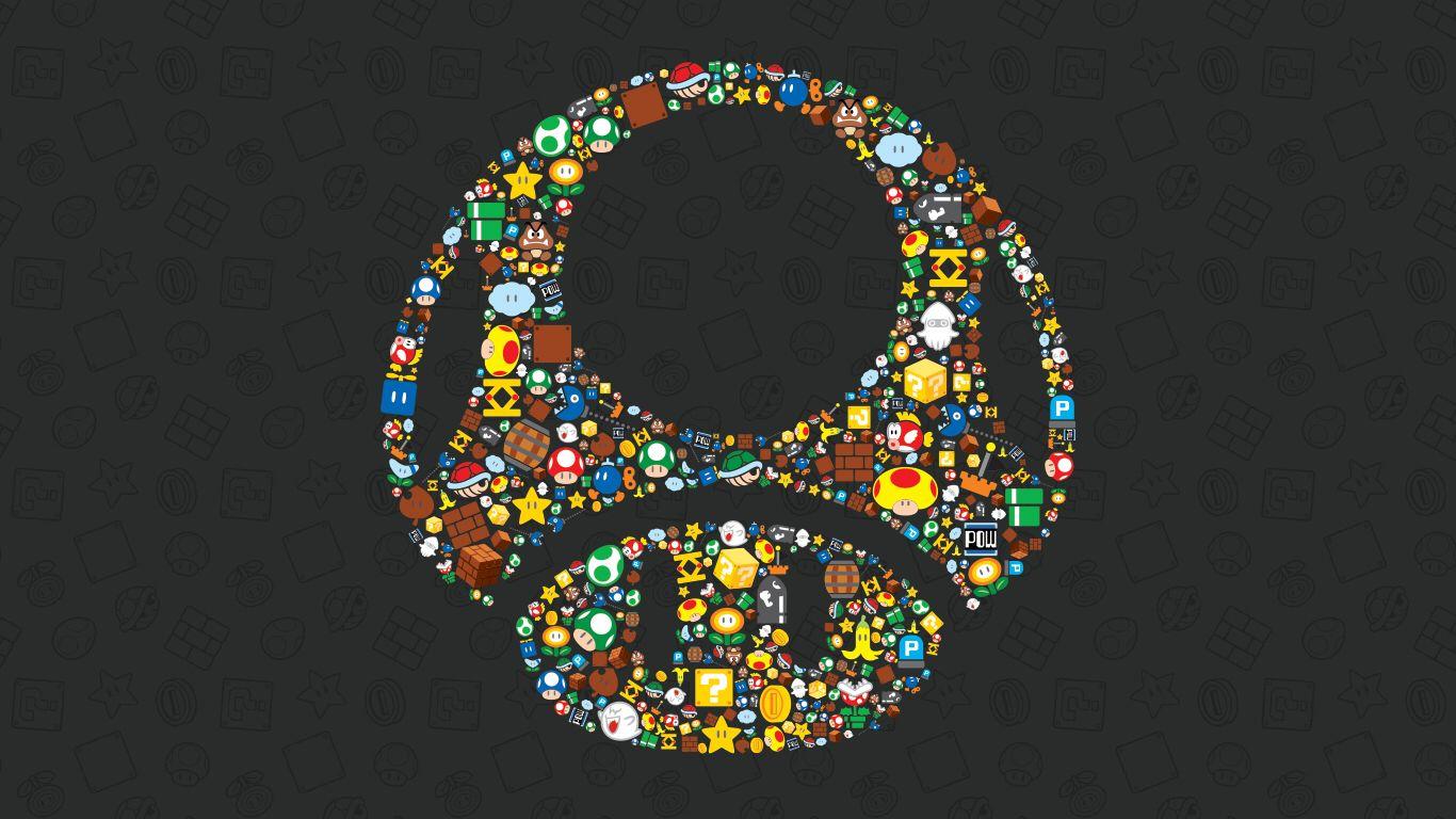 Mario Mushroom Wallpaper Mario art, Nintendo art, Star