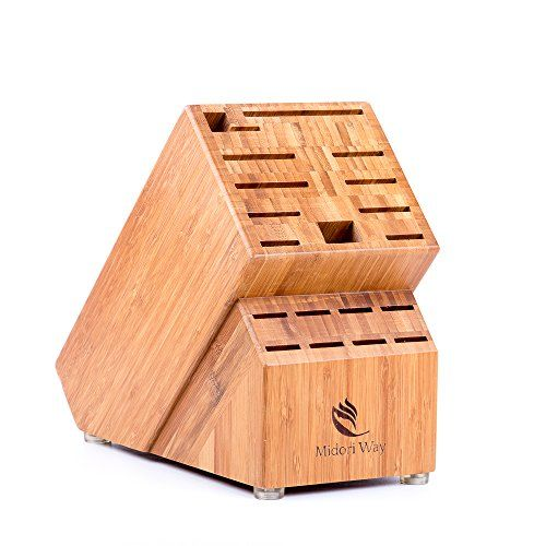 Bamboo Knife Block Without Knives Best For Storage Of Https Www Amazon Com Dp B01lwtmpwz Ref Cm Sw R Pi Dp Kitchen Addition Wooden Blocks Knife Block
