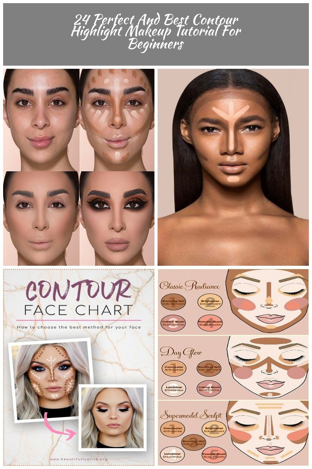 24 Perfect And Best Contour Highlight Makeup Tutorial For Beginners Fashio Contouring And Highlighting Best Contouring Products Makeup Tutorial For Beginners