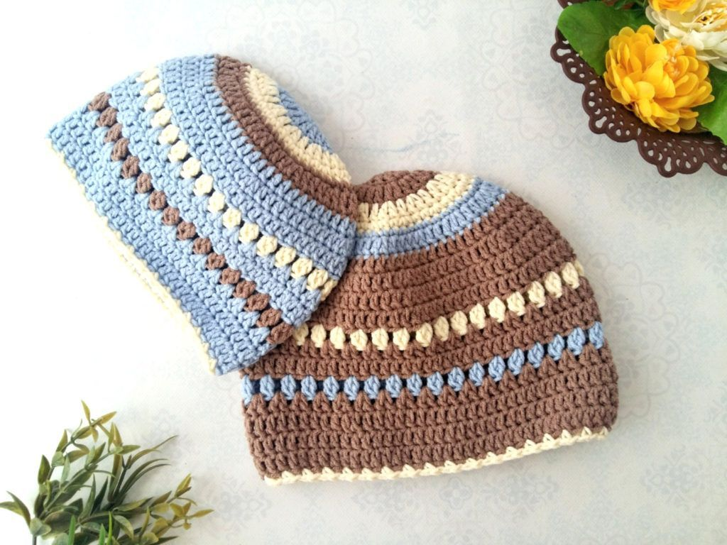The creamy crochet baby beanie is the perfect set up of a crochet