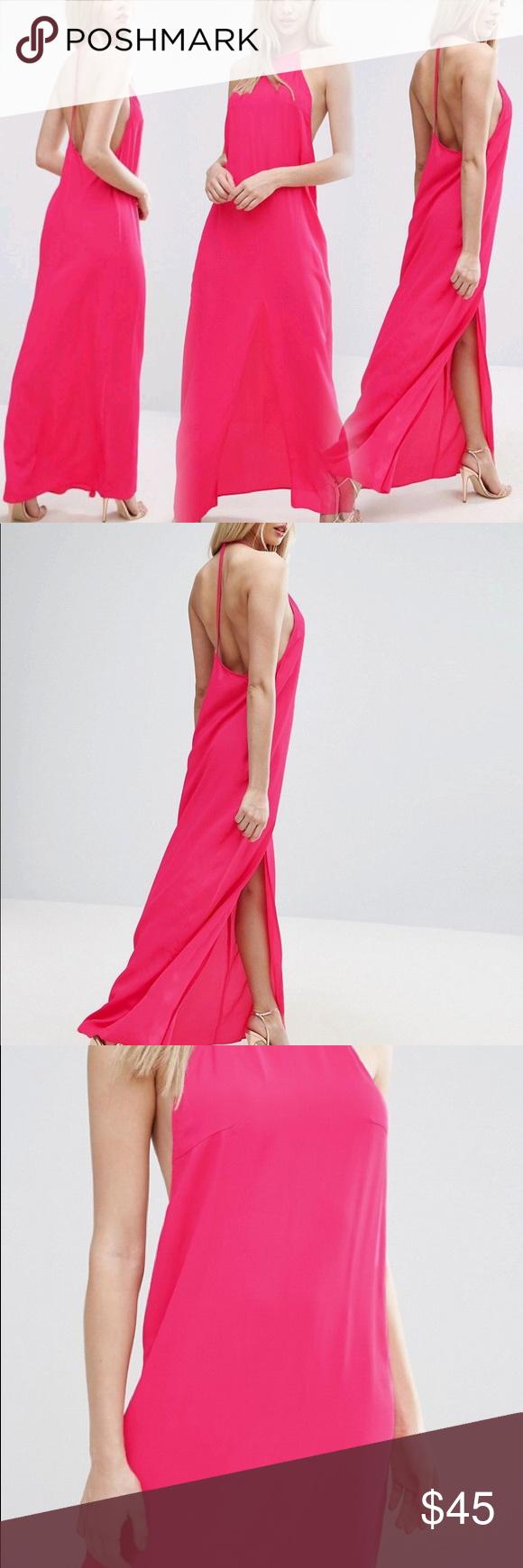 Asos halter strap back maxi dress nwt in my posh closet
