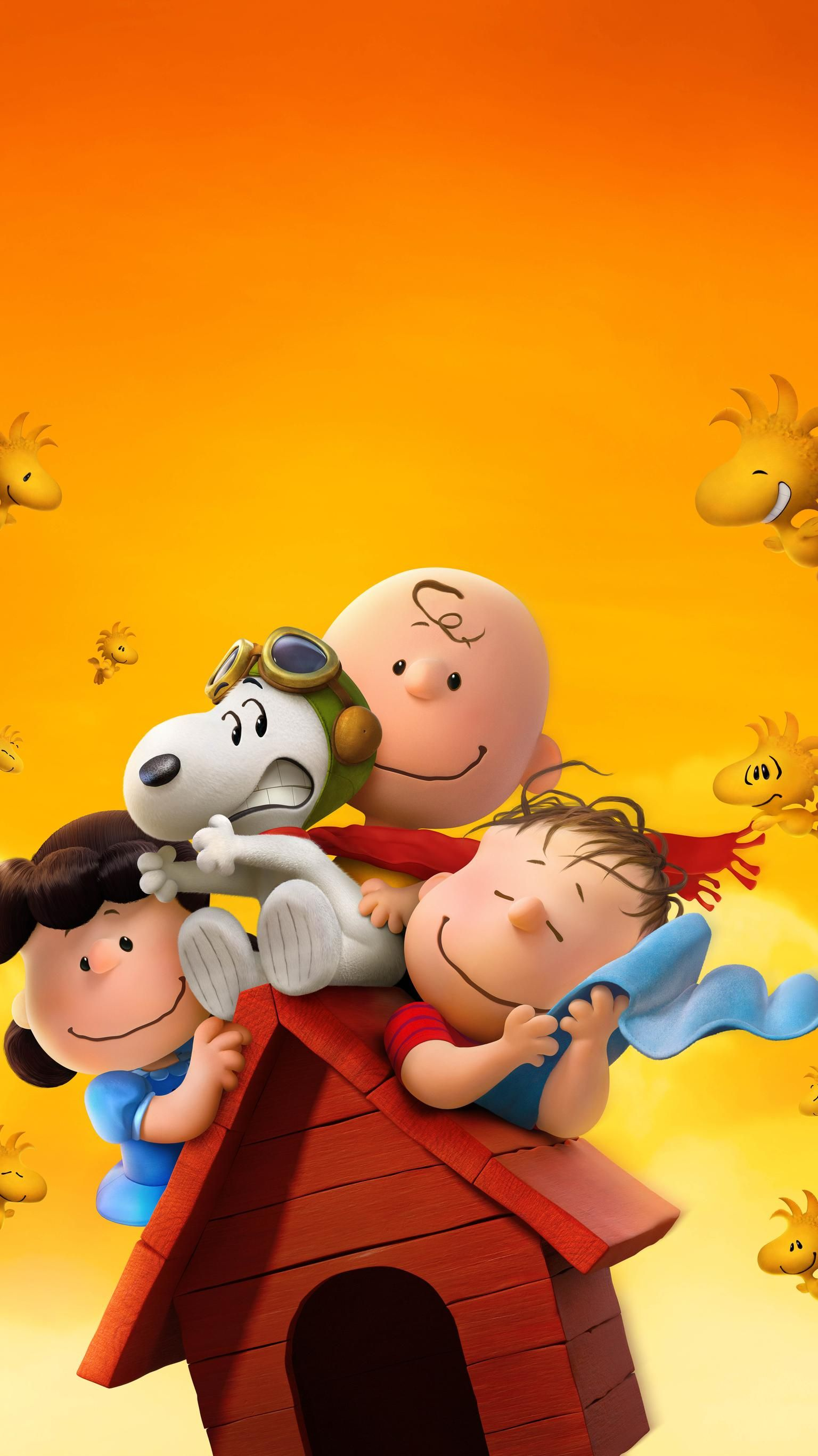 The Peanuts Movie (2015) Phone Wallpaper in 2020 Snoopy