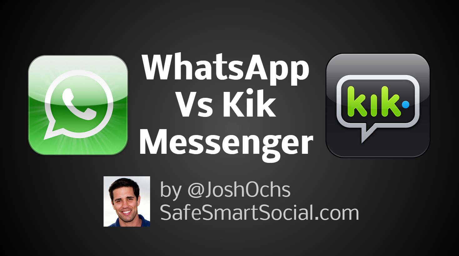WhatsApp vs Kik Messenger