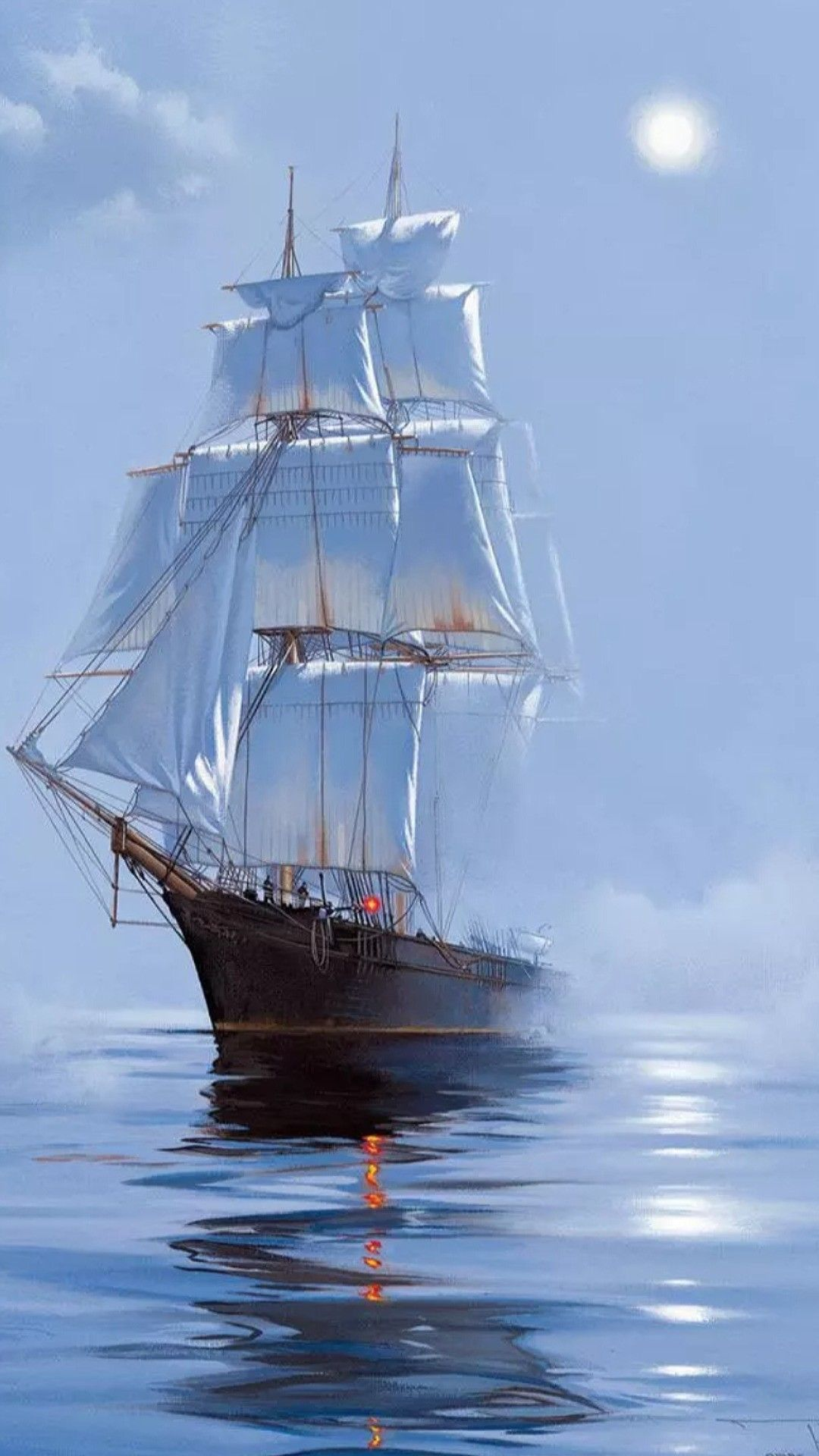 out of the fog a boats tug boats ships junks pirates and tanks sailing ships sailing. Black Bedroom Furniture Sets. Home Design Ideas
