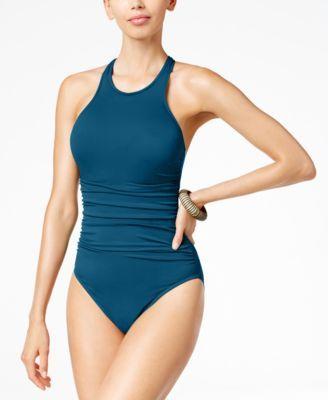 87c0e3af3fcc9 Magicsuit Danika High-Neck Tummy-Control One-Piece Swimsuit | macys.com