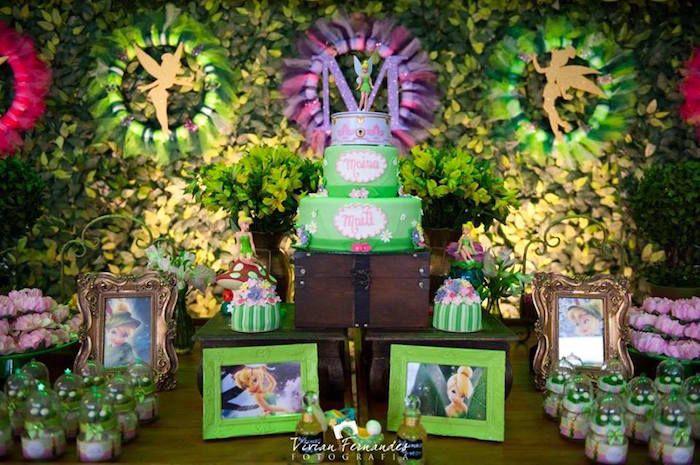 Tinkerbell Fairy Garden Birthday Party | Garden birthday parties ...