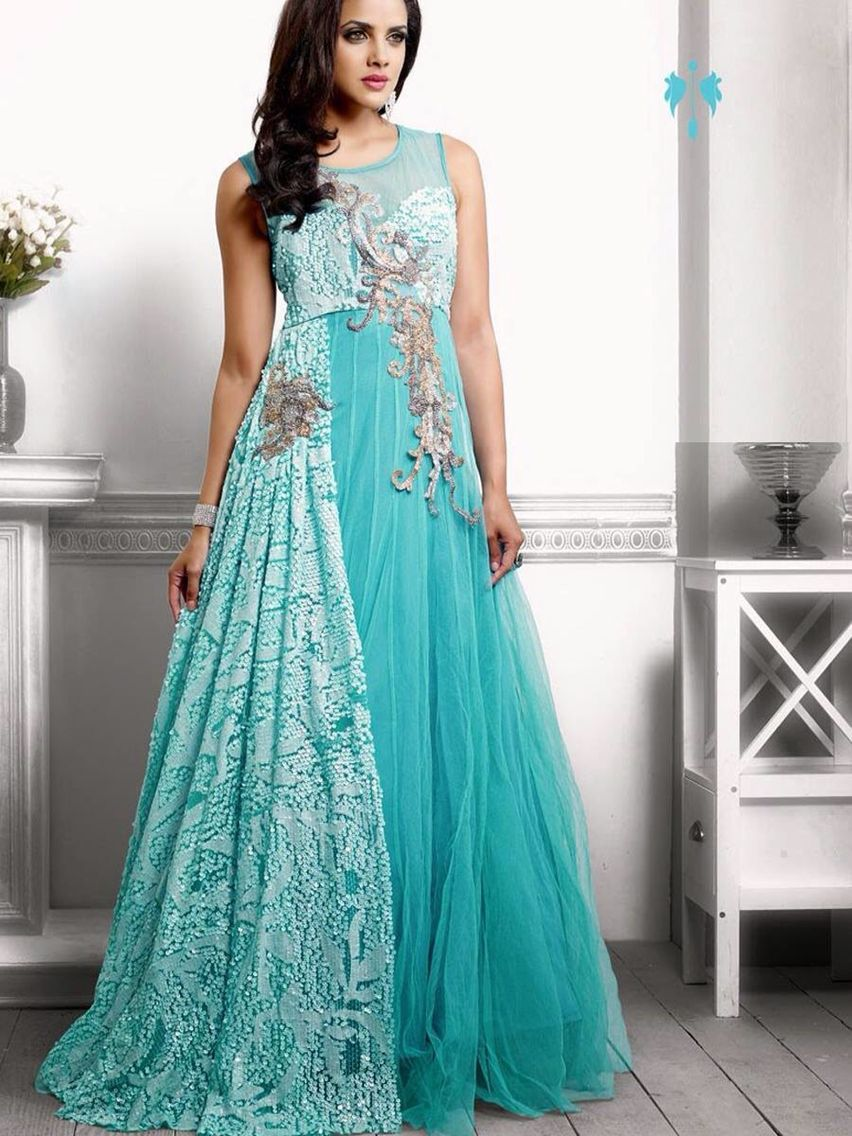 Nice colour   gown   Pinterest   Indian bridal wear, Indian bridal ...