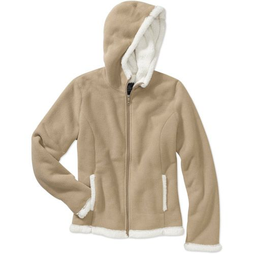 f30321e368e877 Faded Glory XL Women's Sherpa Hooded Jacket - Walmart $16.96 Or any hooded  sweatshirts in basic neutral colors, nothing funky