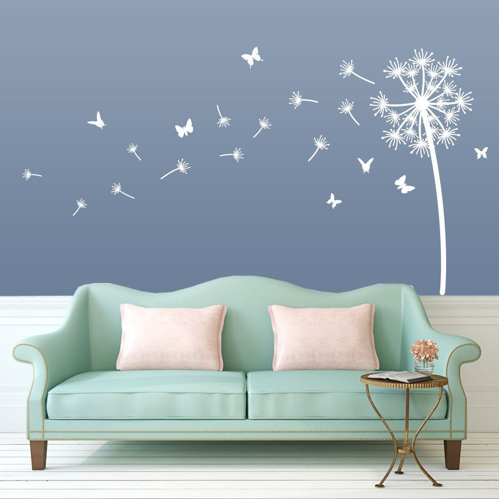 flower dandelion wall stickers home room decor art vinyl on wall stickers for home id=77695