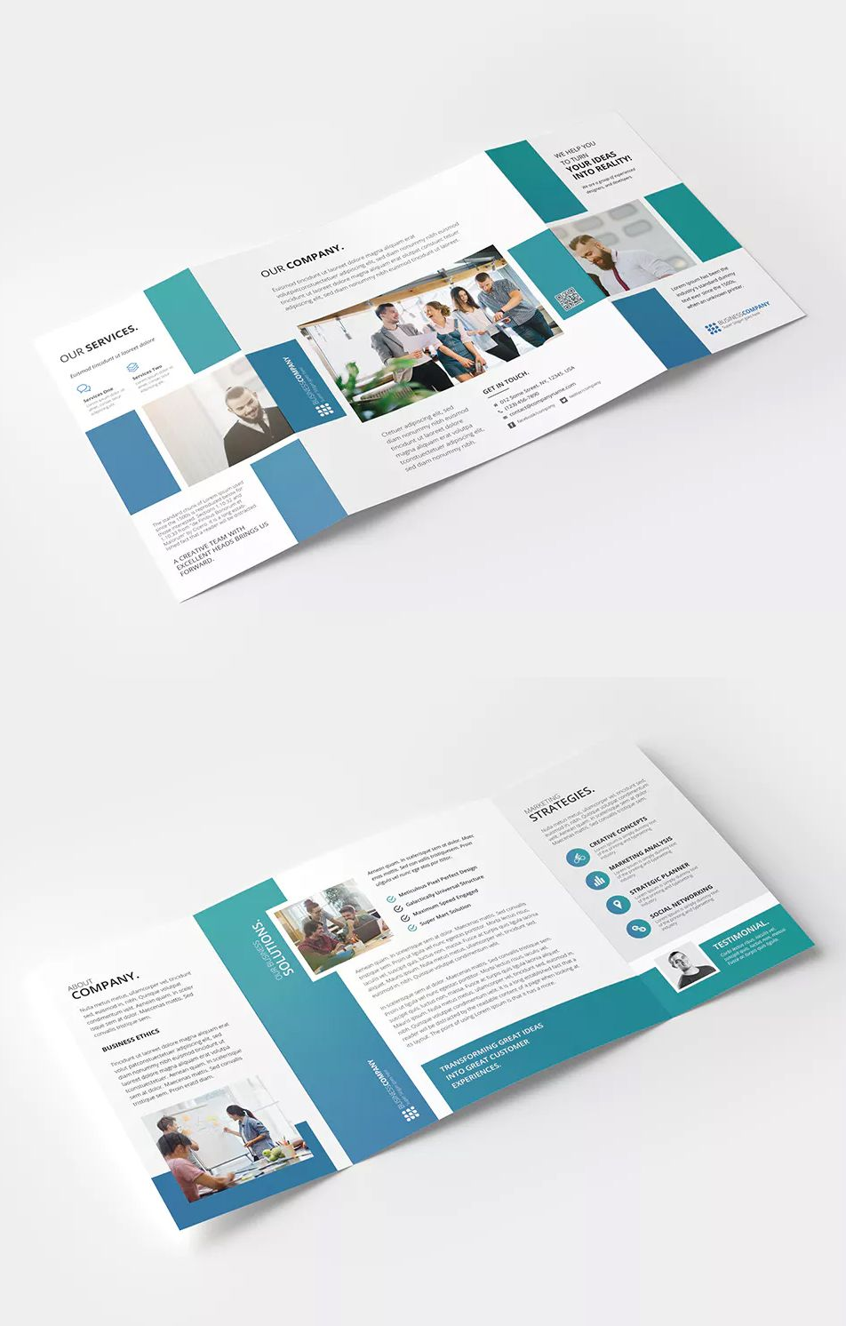 square gate fold brochure template psd cmyk color mode 300 dpi