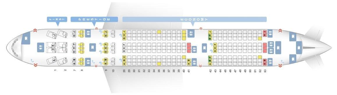 Korean Air Fleet Boeing 777 200er Details And Pictures Dengan