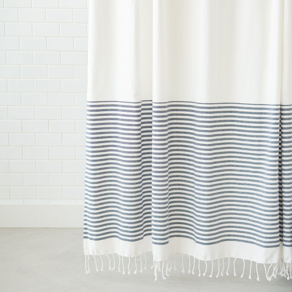 Ava Shower Curtain Black Shower Curtains Striped Shower