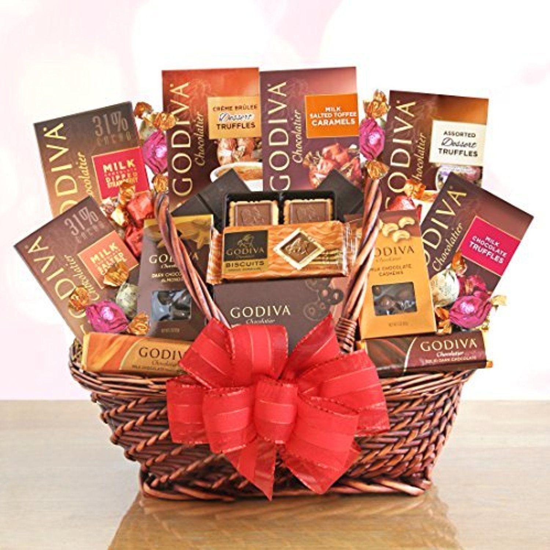 Godiva chocolate premium gift basket by redd barn