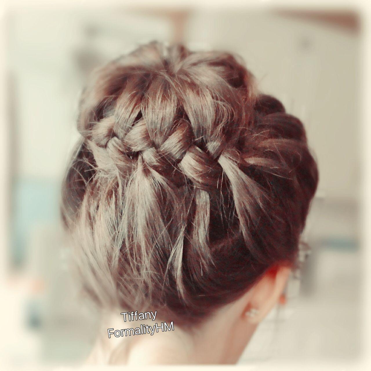 Braid Bun Medium To Long Hair Bridal Hair Boho Romantic Hair