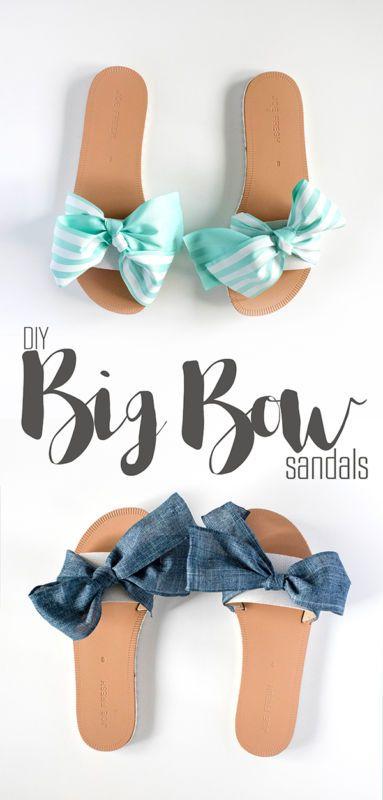 b235ece67e DIY Big Bow Sandals | art and crafts | Diy summer clothes, Diy ...