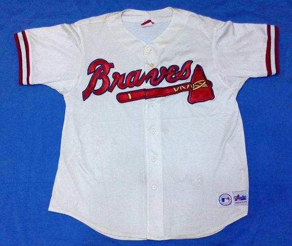vintage Braves jersey 90s Braves baseball jersey XL by lokusmikus