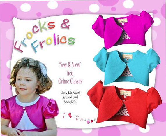 Bolero Jacket PDF Sewing Pattern
