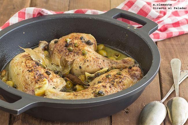 Pollo Asado Con Aceitunas Verdes Y Alcaparras Receta Para Un Menú De Diario Delicioso Recipe Real Food Recipes Cooking Recipes