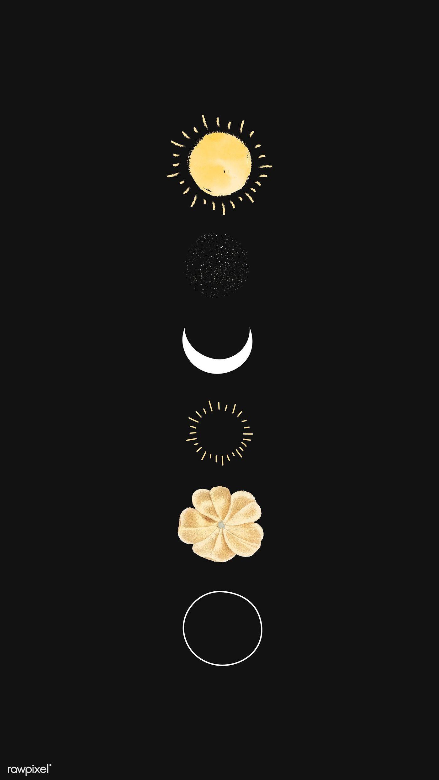 Download premium vector of Floral galaxy design mobile phone wallpaper,  #Design #Download #f...