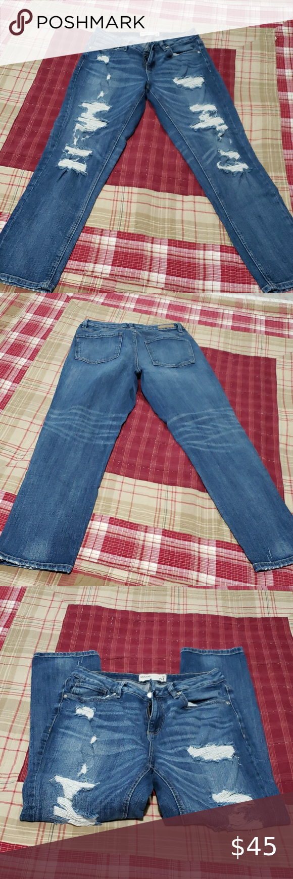 Garage Distressed jeans size 7 GARAGE SIZE 7 DISTRESSED JEANS EXCELLENT PRE-OWNE…