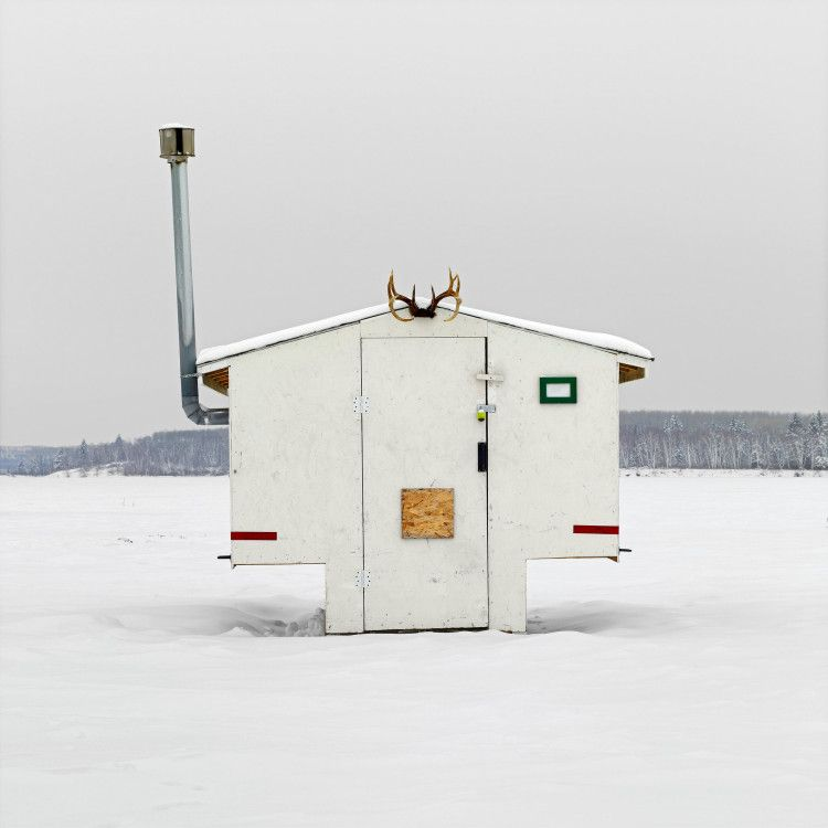 Photographer Documents the Diverse Designs of Canadian Ice Fishing Huts in…