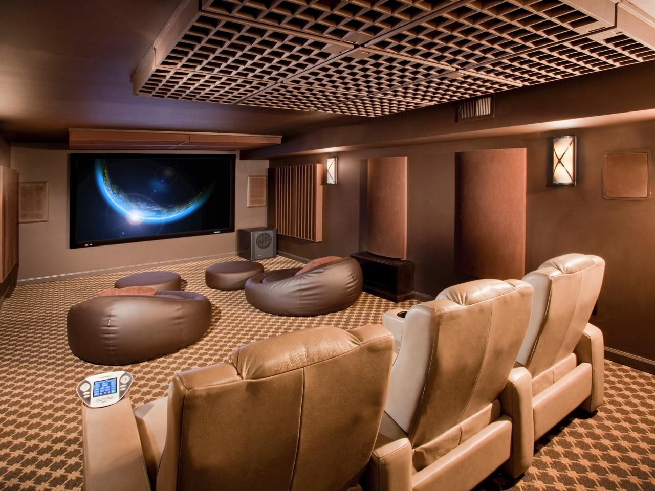 13 High-End Home Theater Designs | Movie, Hgtv and Room
