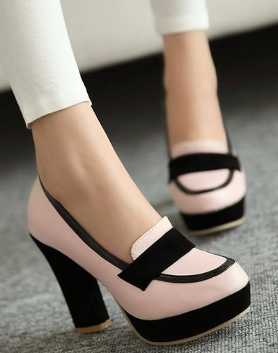18d2a07fb3ae Women s Fashionable Two Tone Pumps in 2019