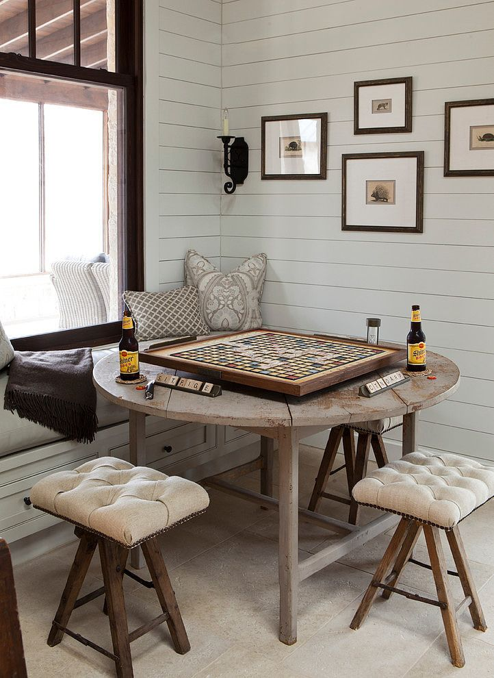 Frio Family Retreat By Shiflet Group Architects Homeadore Farmhouse Dining Room Living Room Table Game Table And Chairs