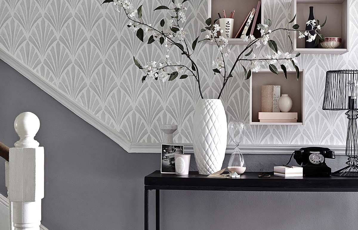 Hallway and stairs wallpaper   standout hallway decorating ideas  Spaces Hall and House