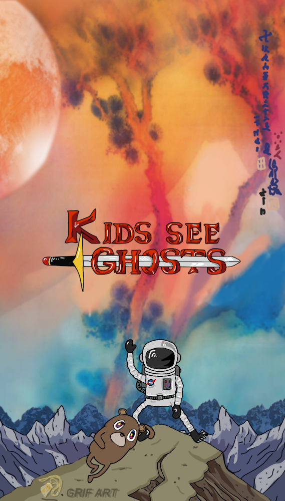 Kids See Ghosts Adventure Time Iphone Wallpaper Grif Art Kid