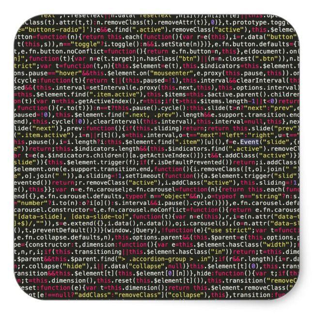 Developer's Terminal Pattern Square Sticker