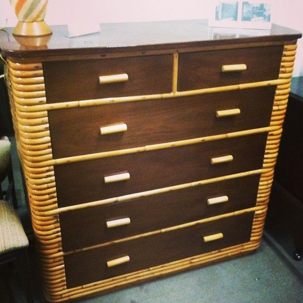 Vintage Rattan Bedroom furniture at it\'s finest! #vintage #rattan ...