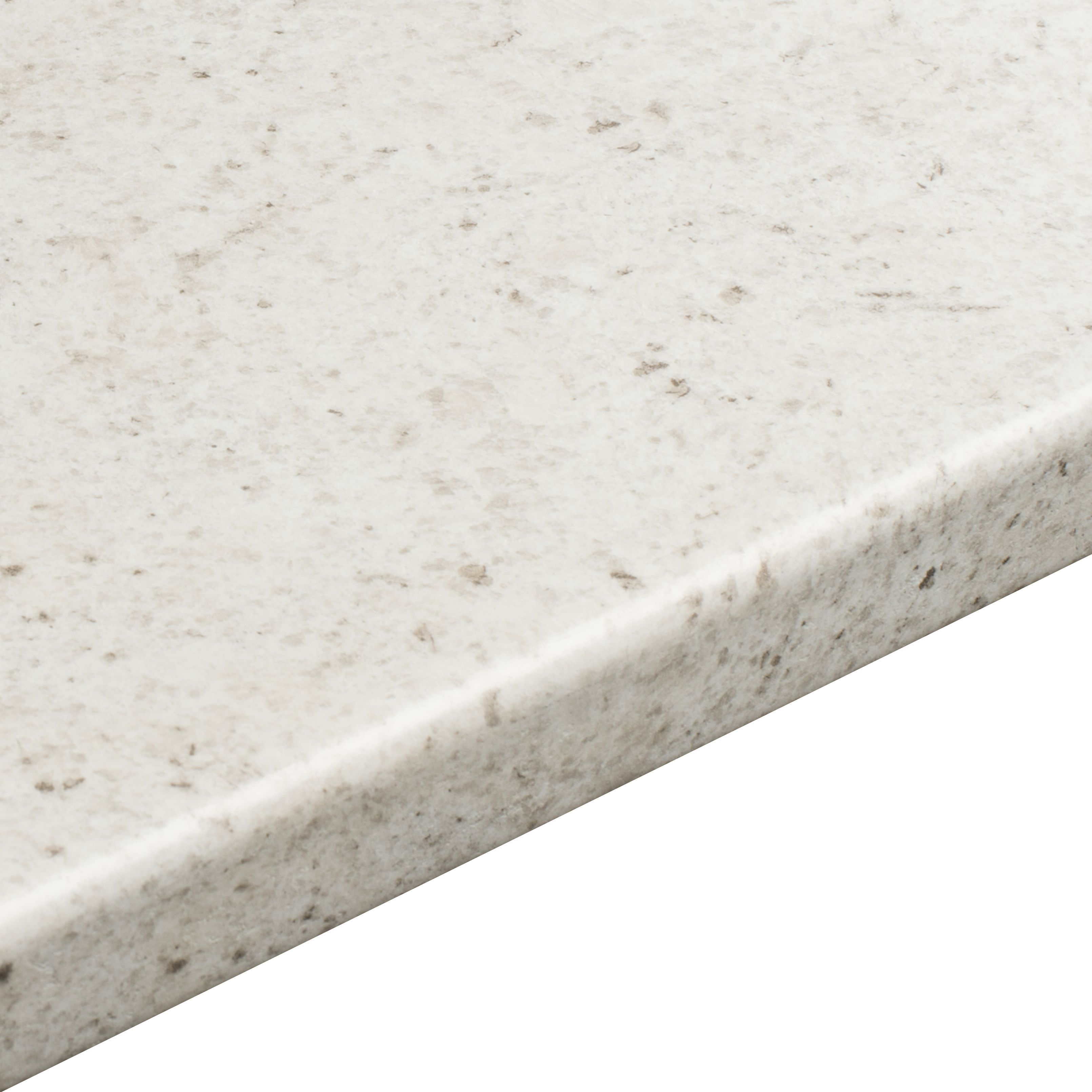 38mm B&Q White Cashmere Etched Laminate Round Edge Kitchen