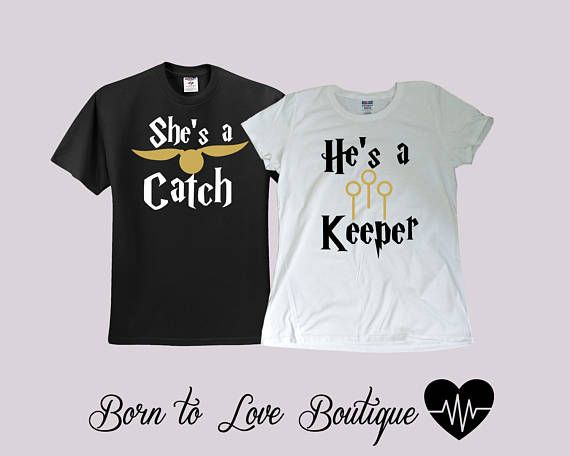 c193f87c Harry Potter Catch/Keeper Bride / Groom shirts Couple | ideas in ...