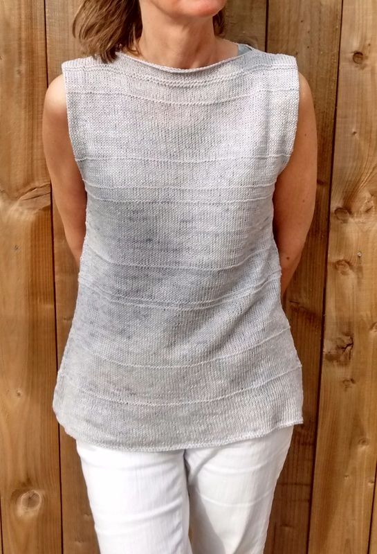 Pure Linen Knitted Top Made With Eco Stitch 100 Linen Yarn In Pale