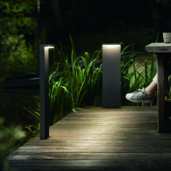 Click Licht philips mygarden led sockelleuchte bustan in anthrazit philips