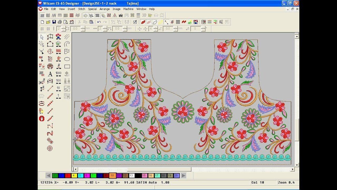 Wilcom Emboridery Design Tutorel Computer Embroidery Design Embroi Computer Embroidery Embroidery Designs Embroidery
