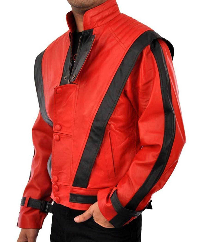 Michael Jackson Thriller Leather Jacket Costume High