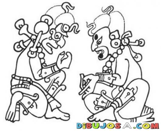 Dibujos Mayas Para Pintar Y Colorear Colorear Mayas Dibujos