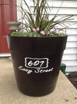 DIY vinyl decal for flower pot to add your by allstickeredup, $8.00