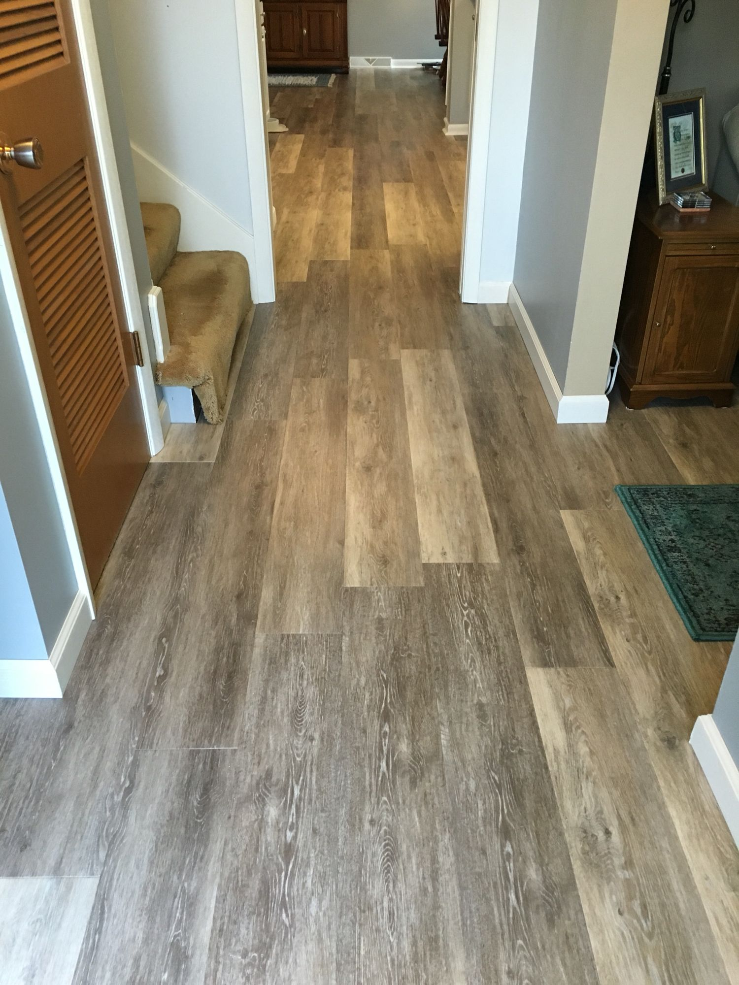 Entryway Luxury vinyl plank flooring, Vinyl plank