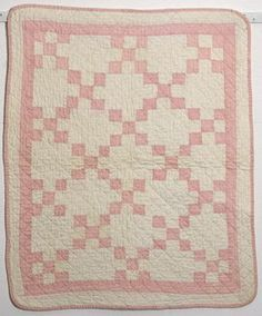 nine-patch vintage doll quilt ... pinned via Susan Douglas
