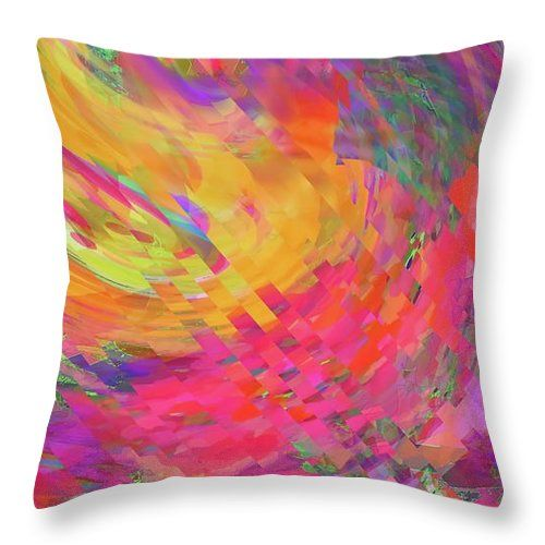 This Reminds Me Very Much Of The Very Coloful Cosmos's And Universes ...if They Included Checks . Throw Pillow featuring the digital…