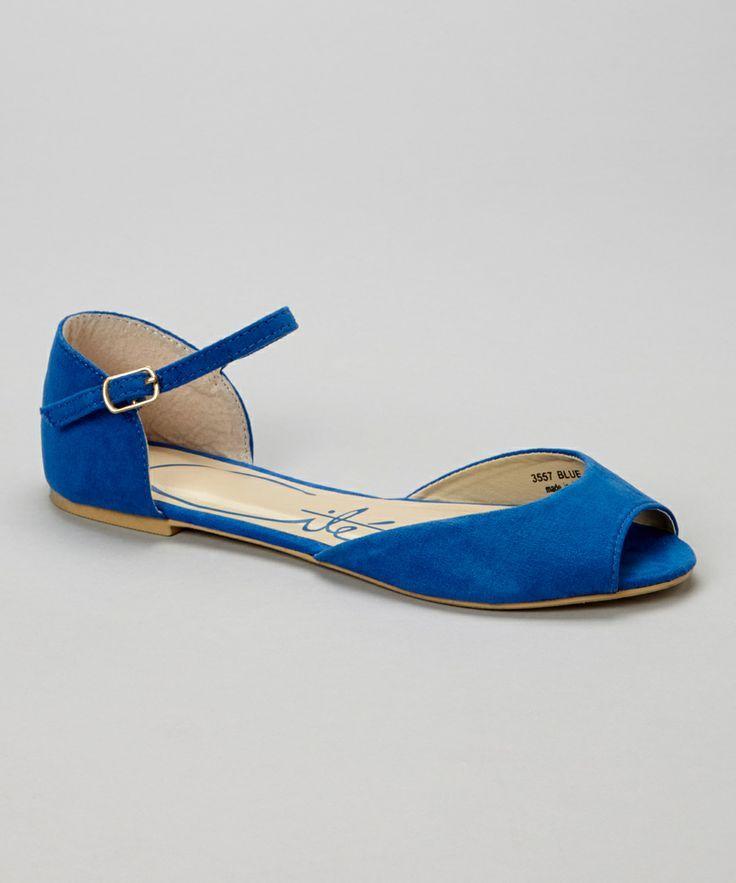 Blue Peep-Toe Sandal