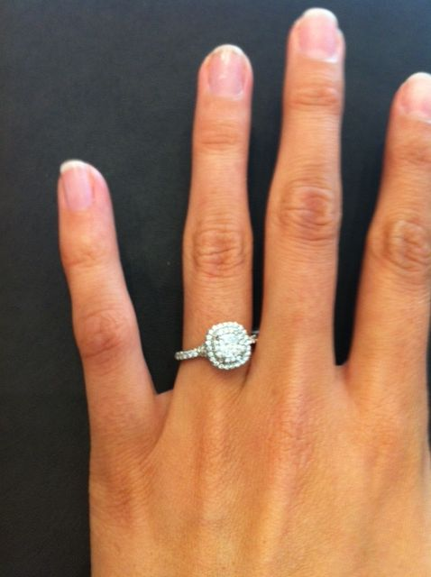 a53337420 Tiffany Soleste on Rachel's Hand. Find this Pin and more on Engagement Rings  ...