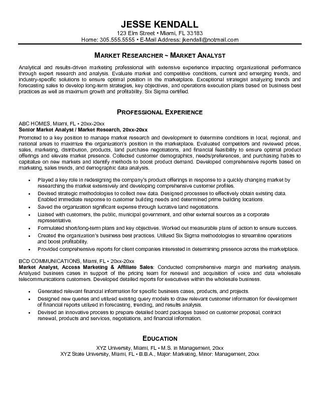 Sample Resume Format Data Analyst Objective From Professionals How