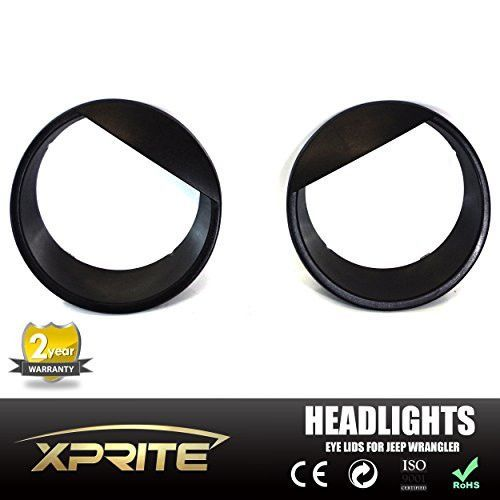 Angry Headlight Eyes Front Lights Trim Cover ABS For Jeep Wrangler Jk 2007-2016